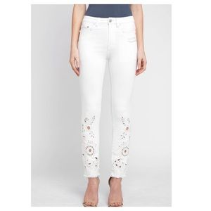 Free People - Cutwork Cigarette Jeans - White